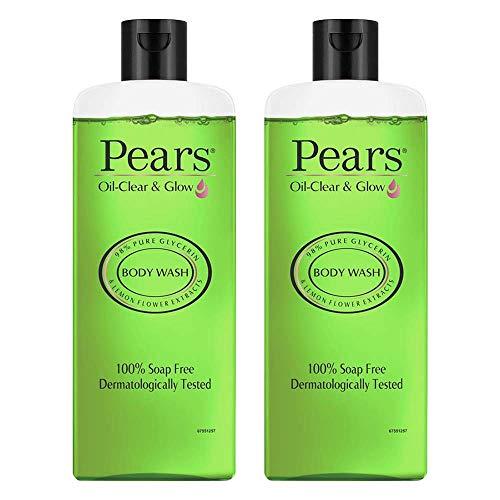 PEARS Oil Clear & Glow Shower Gel, 250 ml (Pack of 2)