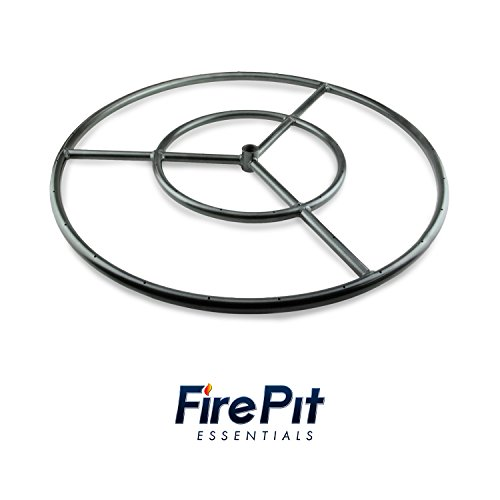 Round Fire Pit Burner Ring by Fire Pit Essentials (Metal, 18 (Fire Ring Kit)