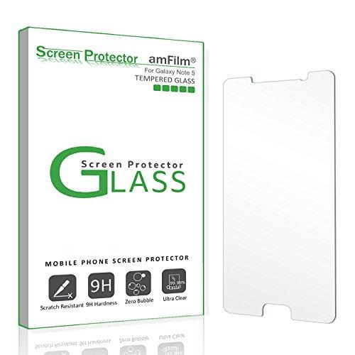 Galaxy Note 5 Screen Protector Glass, amFilm 0.3mm 2.5D Temp
