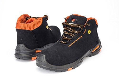 Samurai 1034287008Paar Schuhe Hohe Coral S2SRC ESD, schwarz/orange, 46
