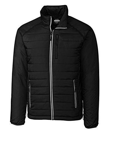 Cutter & Buck Men's Spark Systems Packable Barlow Pass Quilted Jacket, Black,