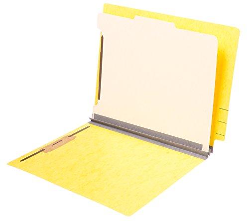 (TAB Pressboard Classification Folder - End Tab, 1 Divider, 4 Fasteners, 2