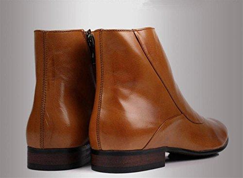 Caviglia Lavoro libero Marrone Autunno XIE Britannico Nero Attivit Pelle Inverno Tempo Stile Uomini Scarpe balestruccio Stivali 5aAYY6Fq