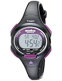 Timex Ironman Essential 10reloj tamaño mediano, Negro/Morado