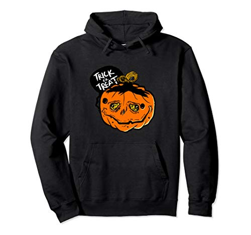 (Sad And Creepy Pumpkin Face Halloween Trick Or Treat Pullover)