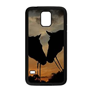 SamSung Galaxy S5 I9600 2D Custom Hard Back Durable Phone Case with Horse Image