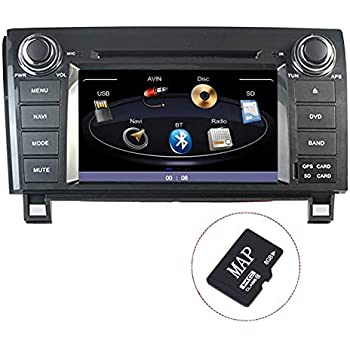 COROTC Compatible 2005-2013 Toyota Tundra 2008-2014 Sequoia Indash Car Stereo Radio Head Unit GPS Navigation System with DVD Player/Bluetooth/SD/USB/FM/AM ...