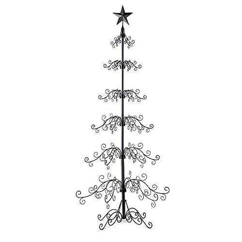 "Metal Ornament Tree-84""H - Black"