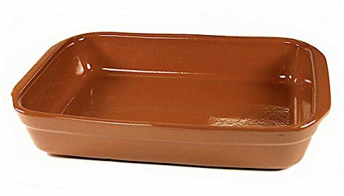 Peregrino Terra Cotta Cazuela Dish, Rectangular - 12x9 inch/12 cups