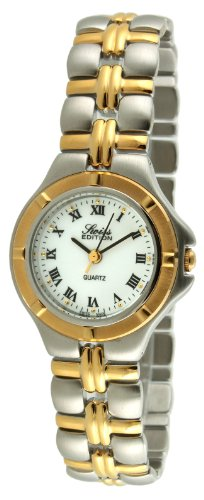 (Swiss Edition Women's Bracelet Watch with Two Tone Gold Plated & Silver Sport Bezel and Swiss Made Analog Quartz Movement)