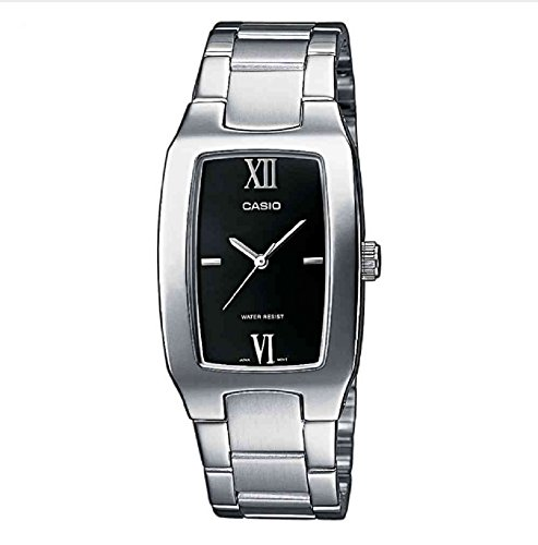 Casio MTP-1165A-1C2EF Gents Watch Quartz Analogue Black Dial Silver Steel Strap