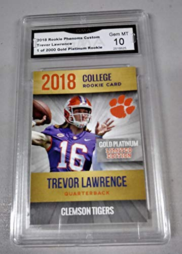2018 TREVOR LAWRENCE ROOKIE CARD CLEMSON TIGERS RC GMA GRADED GEM MINT 10 NON PSA
