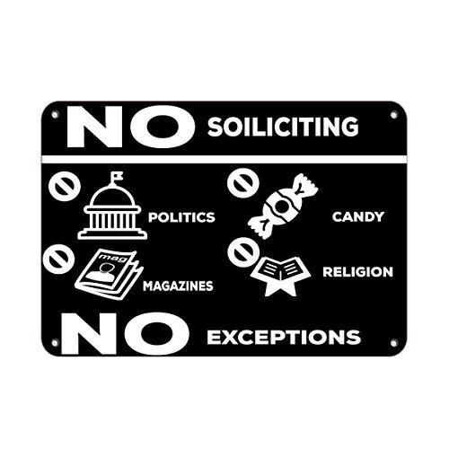 No Soliciting Politics Magazines Candy Religion No Exception Vinyl Label Decal Sticker 8