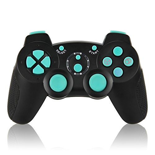 PS3 Controller Wireless, Dual Vibration Sixaxis Game Remote Turbo Gamepad Joystick for Sony PlayStation 3 PS3 (Support Turbo Function) (3 Playstation Controller Turbo)