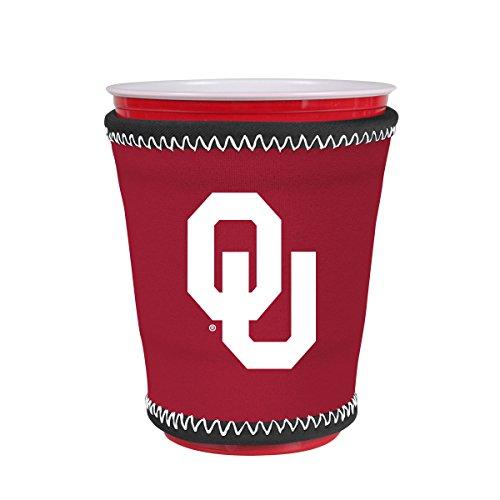 Kolder NCAA Logo Coolie Kup Holder Sleeve Fitting Plastic Cups, Pint Glasses, Coffee Cups, Ice Cream, Etc. - Neoprene and Bottomless (Oklahoma Sooners)