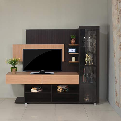 Nilkamal Greta Engineered Wood TV Entertainment Unit Brown , 4 Doors