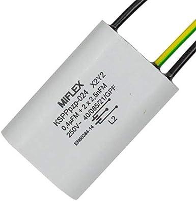 Entstör Kondensator Radial 1x 0 4µf 2x 0 0025µf 25nf 250v 15x30x42mm Beleuchtung