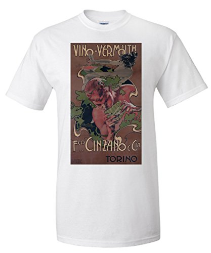 vino-vermouth-cinzano-vintage-poster-artist-hohenstein-italy-white-t-shirt-x-large