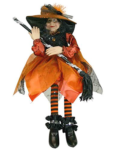 Sitting Halloween Witch Decoration [H3519070A]
