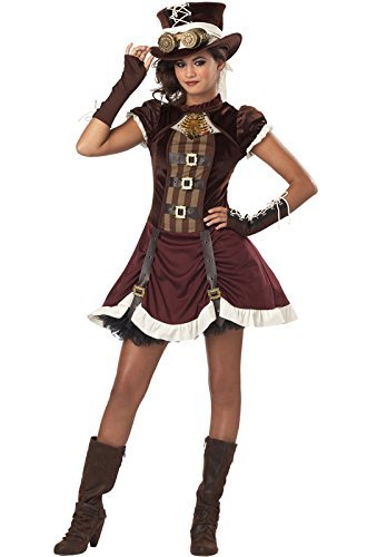 Steampunk Costumes For Tweens (Steampunk Girl Costume Dress Tween by California Costume)