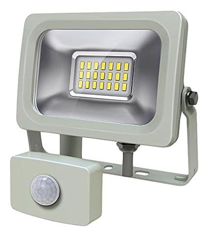 europalamp fl5220 Proyector LED Exterior o interior con sensor de movimiento 10 W Aluminio gris 400