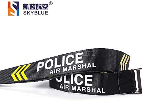 Air Marshal Police Lanyard Sling with Genuine Leather Case for Work ID Holder Color: only Lanyard Gimax Card /& ID Holders Gift for Flight Crew -