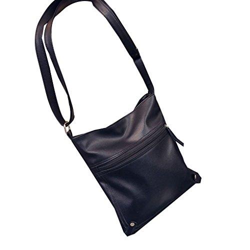 InisIE Girl Fashion PU Simple épaule Crossbody Bag Casual Messenger Sacs de Couleur Unie