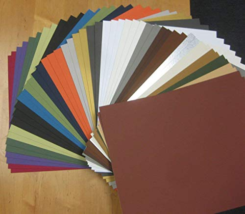 ((50) 16x20 Matboard Mat Board Blanks-Assortment)