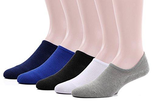 Leotruny Mens Hidden Socks 5 pack