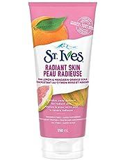 St. Ives Facial Scrub for radiant skin Pink Lemon & Mandarin Orange 100% naturally sourced facial exfoliator 150 mL