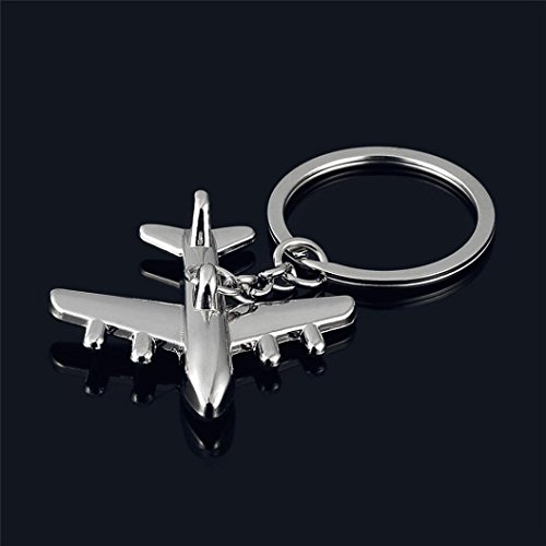 Iuhan Fashion Classic 3D Simulation Model airplane plane Keychain Key Chain Ring Keyring (Quiksilver Mens Anchor)