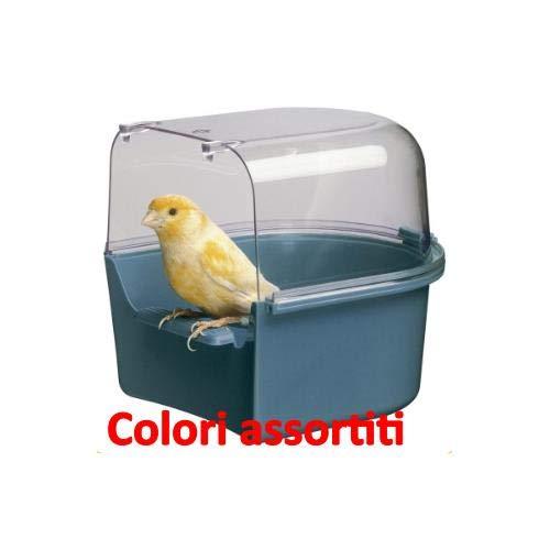 Ferplast Trevi Bird Bath Covered Canary 14x15x13cm by Ferplast