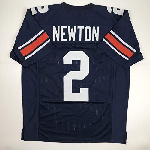 Unsigned Cam Newton Auburn Blue Custom Stitched College Football Jersey Size Men's XL New No Brands/Logos ()