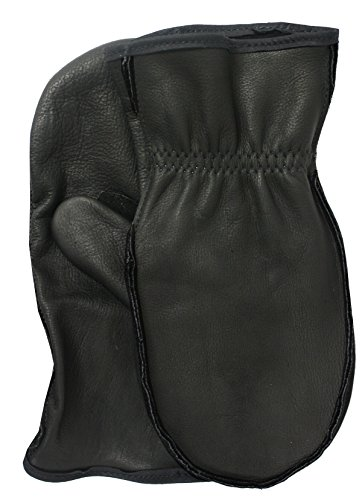 American Made Black Cowhide Leather Chopper Mitt Gloves , 9100BK, Size: Large ()