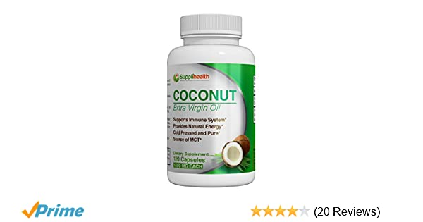 Amazon.com: MCT Organic Coconut Oil Supplement Certified Pure Organic Extra Virgin 1000mg Cold Pressed and Unrefined Rich in Antioxidants Prevent Premature ...