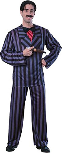 [The Addams Family Gomez Adams Costume, Black, Standard] (The Addams Family Wednesday Costumes)