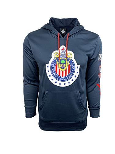 7ae79efd620 Chivas de Guadalajara Hoodie, Official Pullover Hoodie (Large) Blue