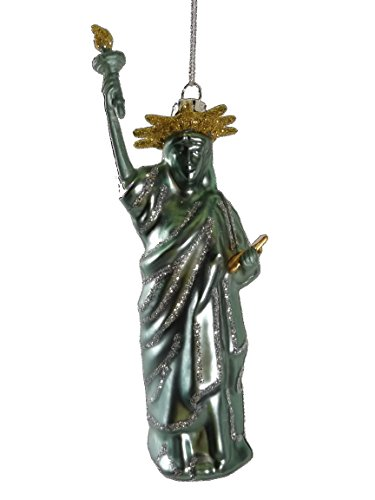 Statue of Liberty Blown Glass New York Christmas Tree Ornament ()