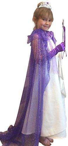 Princess Cape, Tiara, Wand and Gloves Dress up Set (dark purple) (Dark Princess Costume)