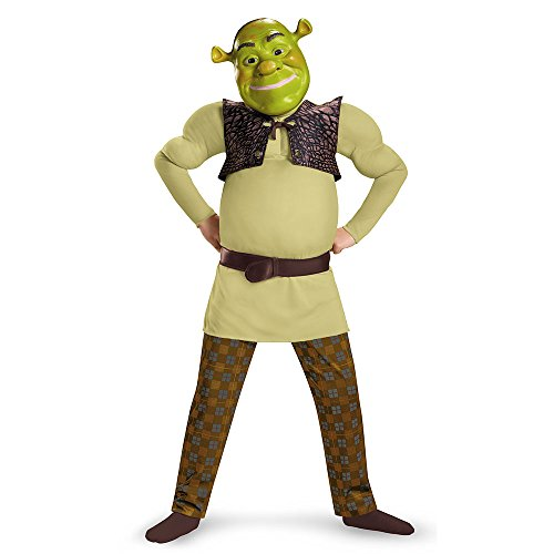 [Disguise Shrek Classic Muscle Costume, Medium (7-8)] (Shrek Costumes)