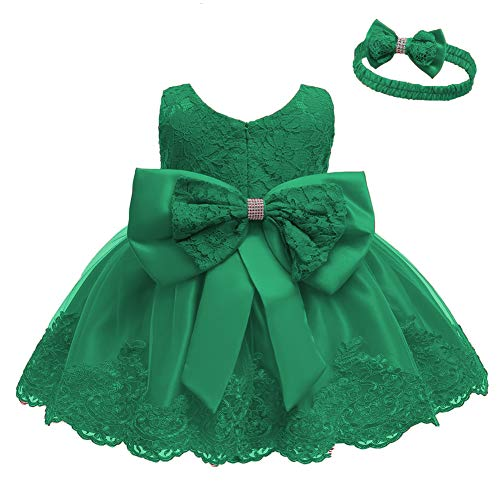 Baby Toddler Lace Dress Girls First Baptism