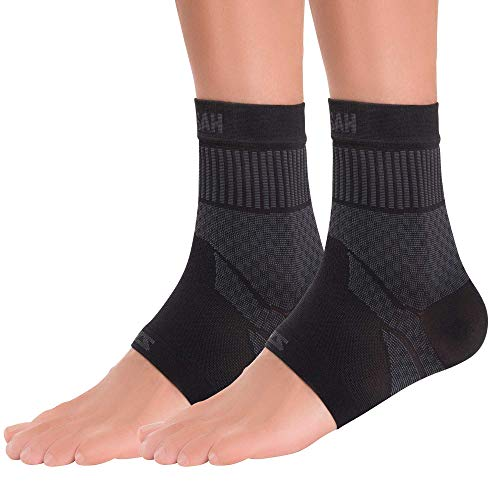 Zensah Ankle Support – Compression Ankle Brace – Great for Running, Soccer, Volleyball, Sports – Ankle Sleeve Helps Sprains, Tendonitis, Pain (Small, Black – Pair)