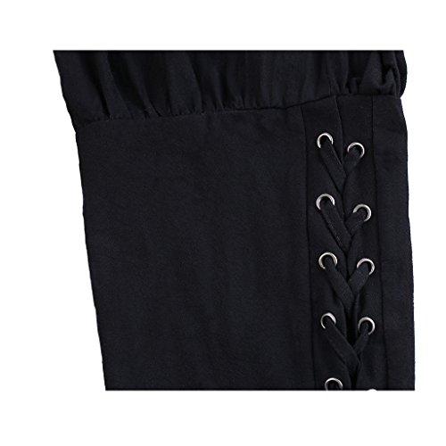 FunStation Men's Medieval Ankle Banded Viking Pants Trousers Costume (L, Black) by FunStation (Image #4)