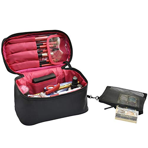 Travel Makeup Bags Small Cosmetic Case Organizer for Women ()