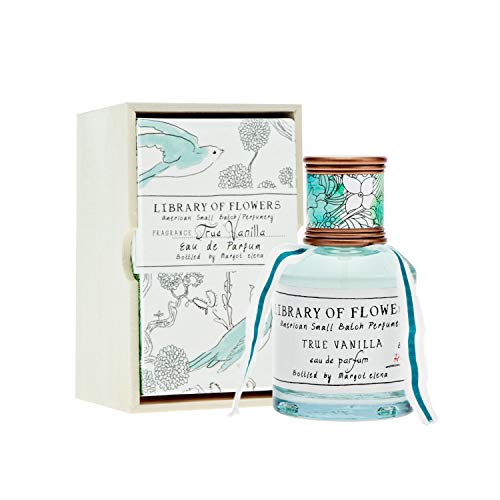 (Library of Flowers True Vanilla Eau De Parfum | Margot Elena's Bergamot, Dark Vanilla, Amber Perfume, 1.69 fl oz Spray(title))