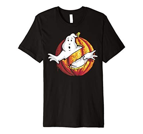 Ghostbusters Classic Logo Halloween Pumpkin Premium T-Shirt ()