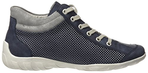Remonte Signore R3487 Alta Blu Sneaker (atlantis / Pacifico / Argento / Acciaio)