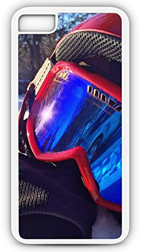 iPhone 8 Plus 8+ Case Ski Mask White Out Condition Eye Protection Goggles Customizable by TYD Designs in White Rubber ()