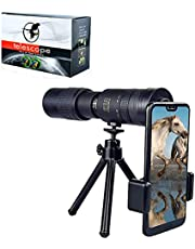 2021 Arctic P9 Military Telescope - 4K 10-300x40mm, Super Telephoto Zoom Monocular Telescope, HD Waterproof Monocular Telescope Built-in Night Vision Function for Outdoor Adventure (with Tripod)