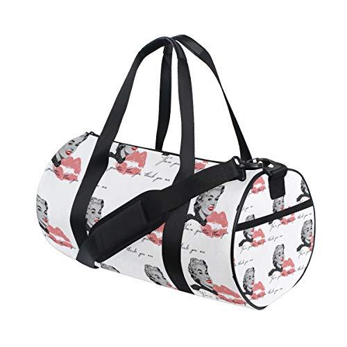 LEVEIS Marilyn Monroe Travel Tote Duffel Bag Carry on Bag Weekender Gym Bag For Men & Women ()